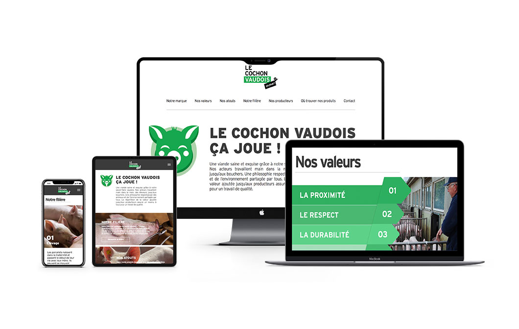 ELK agency's achievements, Creative & Digital agency in Lausanne for LE COCHON VAUDOIS